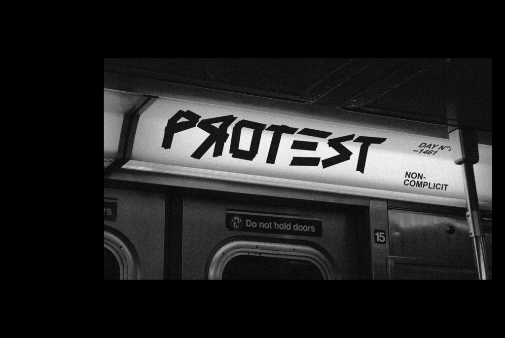 protest nyc metro subway